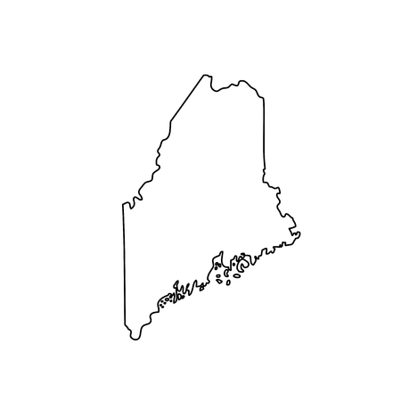 map of the U.S. state Maine