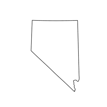 Map of Nevada on white background. Vector.