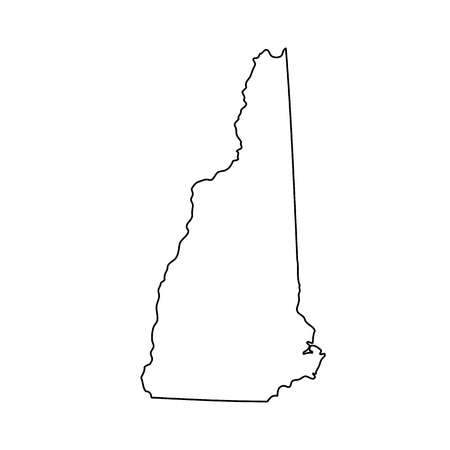 federated: map of the U.S. state of New Hampshire