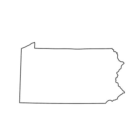 mappa dello stato americano della Pennsylvania