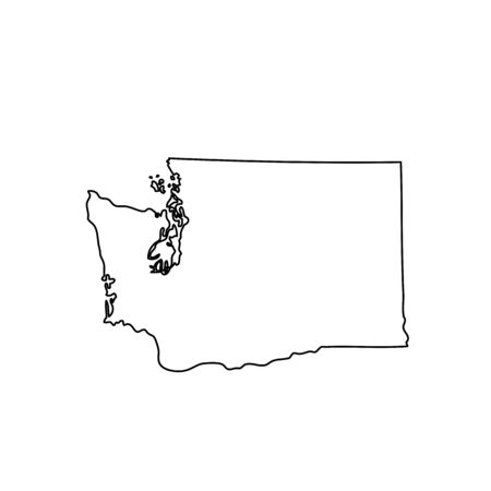 map of the U.S. state of Washington Иллюстрация