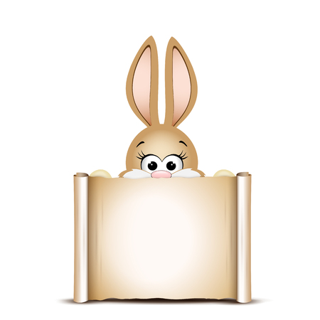 Easter card design template. Easter funny bunny. Happy Easter ca