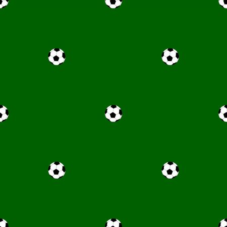 Seamless pattern with soccer balls vector backgrounds