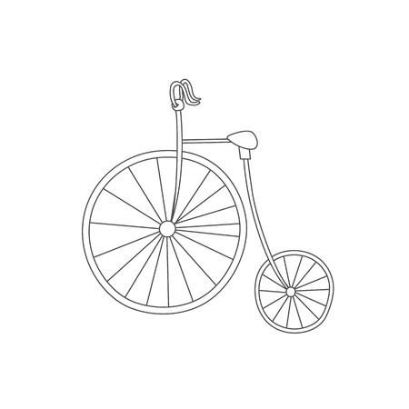 Tarjeta De Invitación Con La Bicicleta En La Corona De La Cadena, El ...
