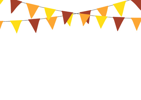 Thanksgiving bunting flags. Holiday decorations.