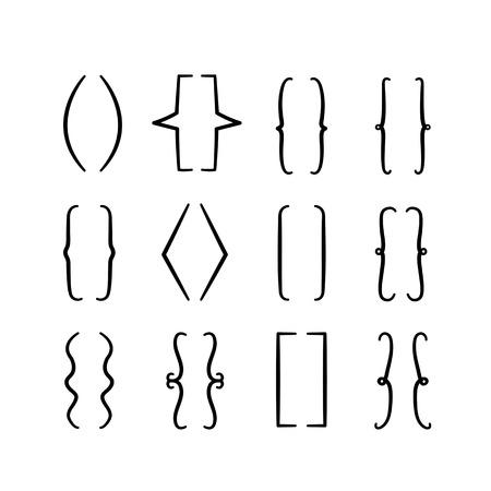 Conjunto de llaves o icono de llaves. Elementos dibujados a mano para sus diseños.
