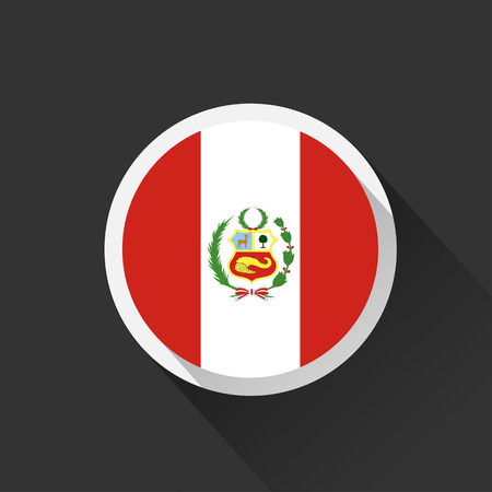 Peru national flag on dark background. Ilustrace