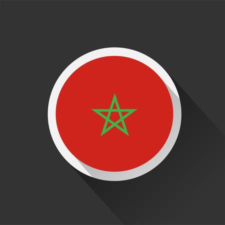 Morocco national flag on dark background. Vector illustration. Banco de Imagens