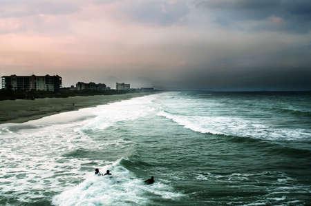 cocoa beach: Atlantic Ocean at sunset Stock Photo