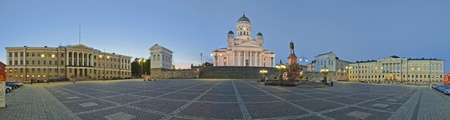 Senate Square in Helsinki. Stitched Panorama photo