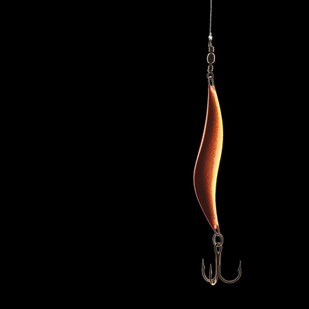 Fishing lure isolated on black with clipping path Stock Photo - 23192153