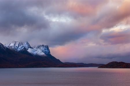 scandinavian landscape: Beautiful landscape of Norway Stock Photo