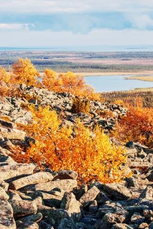 Picturesque Lapland landscape photo