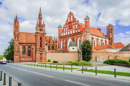 gothic church: St Annes church in Vilnius, Lithuania.