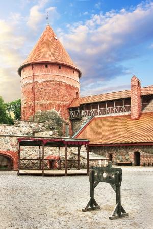 sigulda: Turaida Castle in Latvia  13-th century  Public museum  Editorial
