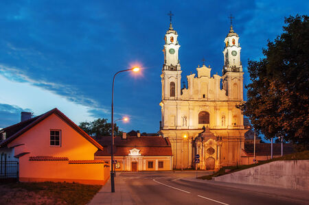 St Peter and St Paul's church in Vilnius, Lithuania