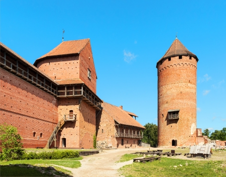 13th century: Ruins of medieval Turaida castle museum in Latvia. 13-th century Editorial