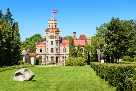 sigulda: Sigulda Ayuntamiento en el castillo del siglo 19-th, Letonia