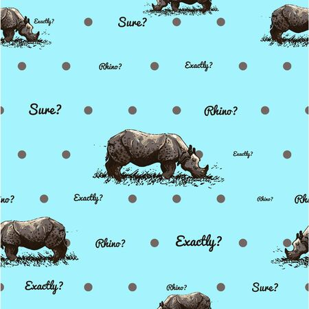 ordinary: absolutely ordinary pattern with rhino