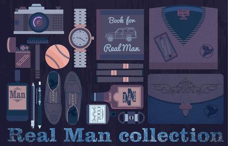 baseball stuff: Real man collection Illustration