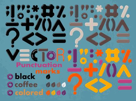 set van vector gekleurd en zwart leestekens Vector Illustratie