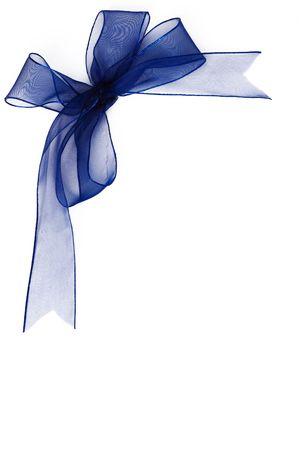 gauzy: Blue gauzy bow  Stock Photo