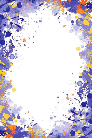 Vector colorful splattered frame for flyers, posters, invitations