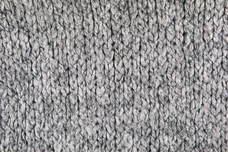 Loose Knitwear Fabric Texture with wool fibers. Repeating Machine Knitting Texture of warm Sweater. Grey Knitted Background. 版權商用圖片