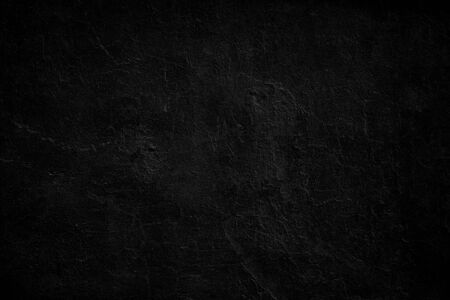 Neutral blank low contrast black textured background with roughness and irregularities to your concept or product. Black plaster painted on concrete stone wall.