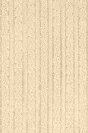 Knitwear Fabric Texture with Pigtails and stripes. Repeating Machine Knitting Texture of Sweater. Beige Knitted Background. Stok Fotoğraf