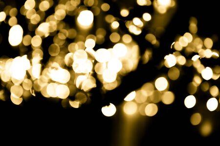 Efecto de superposición festiva. Círculos dorados bokeh festivo brillo fondo oscuro. Navidad, año nuevo, diseño de vacaciones.