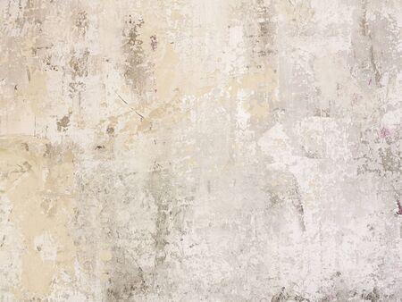 Beige kontrastarm verkratzter glatter dekorativer Putzbeton strukturierter Hintergrund. Abstrakte weiche neutrale antike künstlerische Hintergrundtextur für Ihr Konzept oder Produkt Standard-Bild