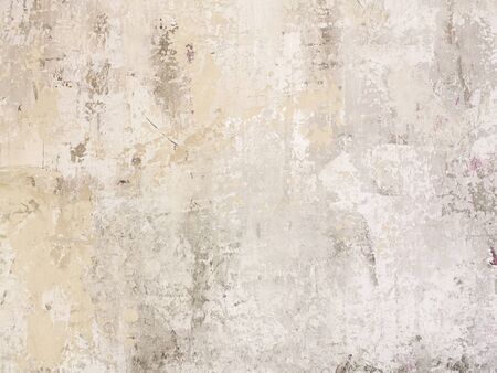 Beige low contrast scratched smooth decorative plaster concrete textured background. Abstract soft neutral antique artistic backdrop texture to your concept or product Stock Photo