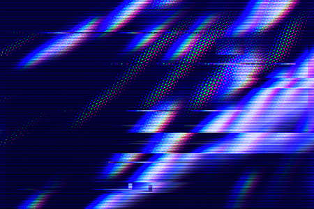 Glitch interlaced textured futuristic background Stock Photo