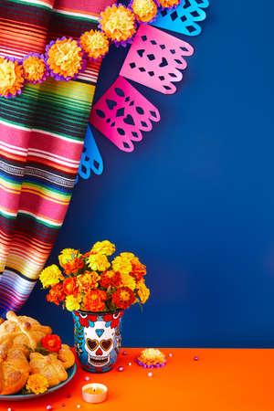 Day of the dead, Dia De Los Muertos Celebration Background Foto de archivo