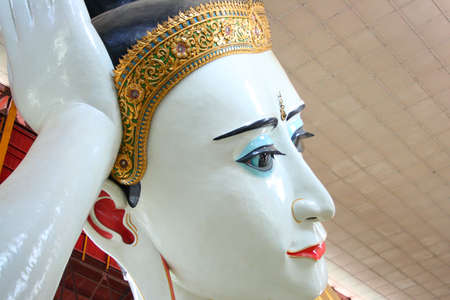reclining: Chauk htat gyi reclining buddha sweet eye buddha yangon myanmar