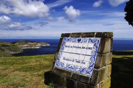 Beautiful view of the Miradouro de Santa Iria, Ilha do Sao Miguel, Azores