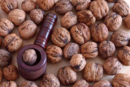 glassblower: The Nutcracker on walnuts background