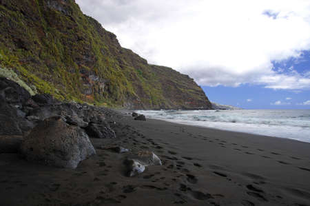 The beach of Los Nogales can be reached only on foot,La Palma, Canary photo