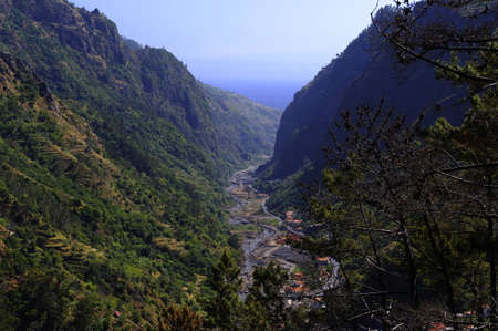 The road to Sao Vicente along the canyon, Madeira