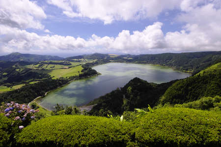 Lagao do Furnas, View from Pico do Ferro, Sao Miguel, Azores