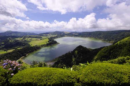 Lagao do Furnas, View from Pico do Ferro, Sao Miguel, Azores