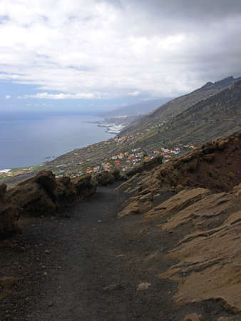 Volcano Teneguia, La Palma, Canary island photo