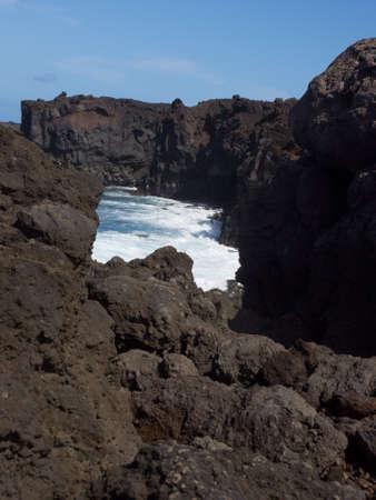 los hervideros: Los Hervideros, Lanzarote, Canary Islands, The place where lava was going to the Ocean
