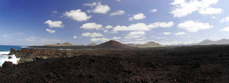 los hervideros: Los Hervideros, Lanzarote, Canary Islands  The place where lava was going to the Ocean