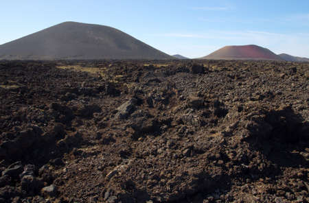 Volcanic landscape of Lanzarote, Canary Islands,Spain photo
