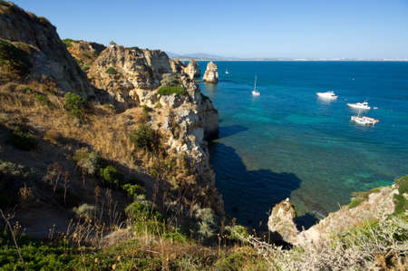 Ponta da Piedade, Natural formation in Algarve s coast near Lagos town, Portugal photo