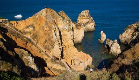 natural formation: Ponta da Piedade, Natural formation in Algarve s coast near Lagos town, Portugal Stock Photo