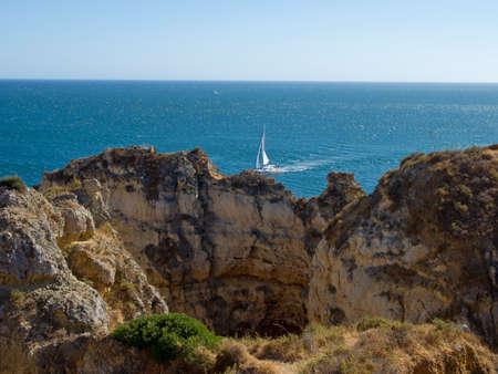 Ponta da Piedade, Natural formation in Algarve�s coast near Lagos town, Portugal Stock Photo - 21699062