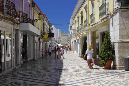 The center city of Faro, Algarve Capital, Portugal Editorial